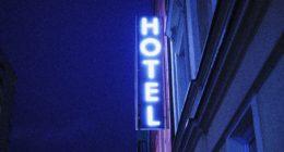 turned on Hotel LED signage